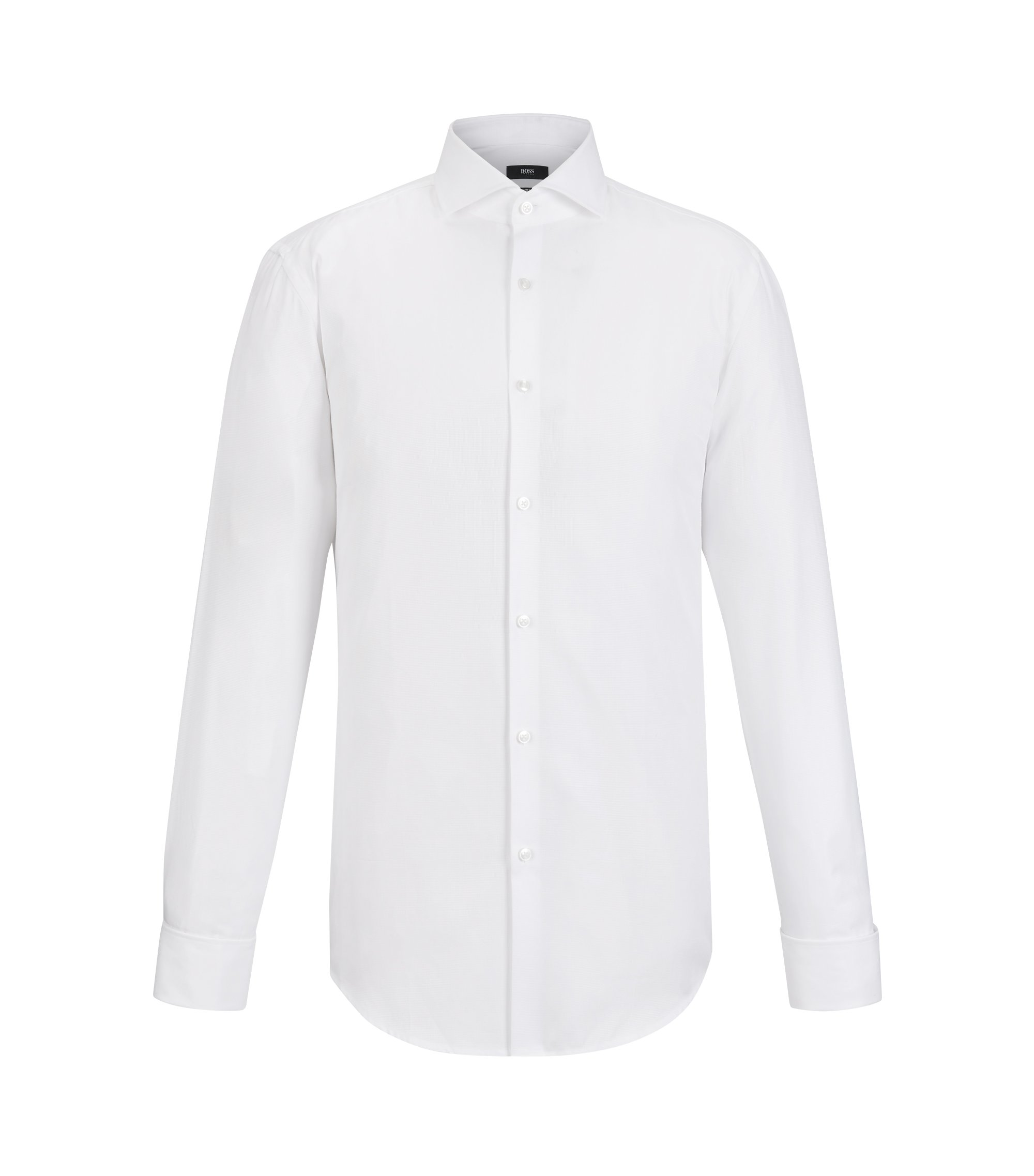 Cotton Dress Shirt, Slim Fit | Jaiden, White
