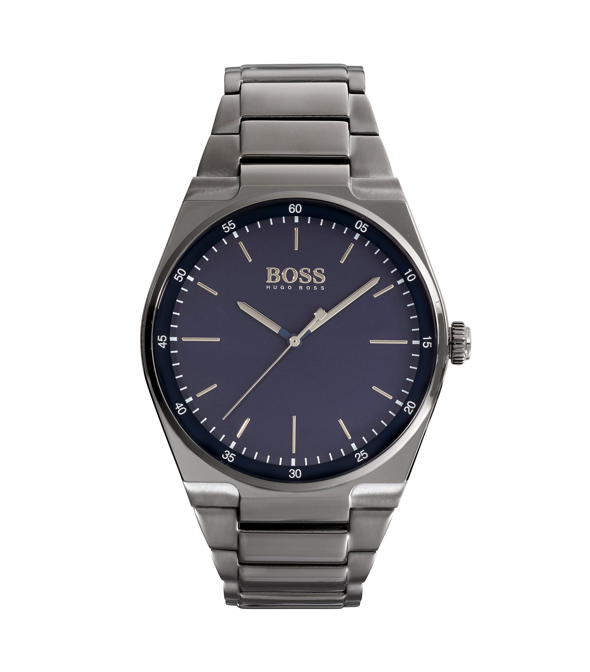 Blue Dial Watch With Grey Bracelet | Magnitude , Assorted-Pre-Pack