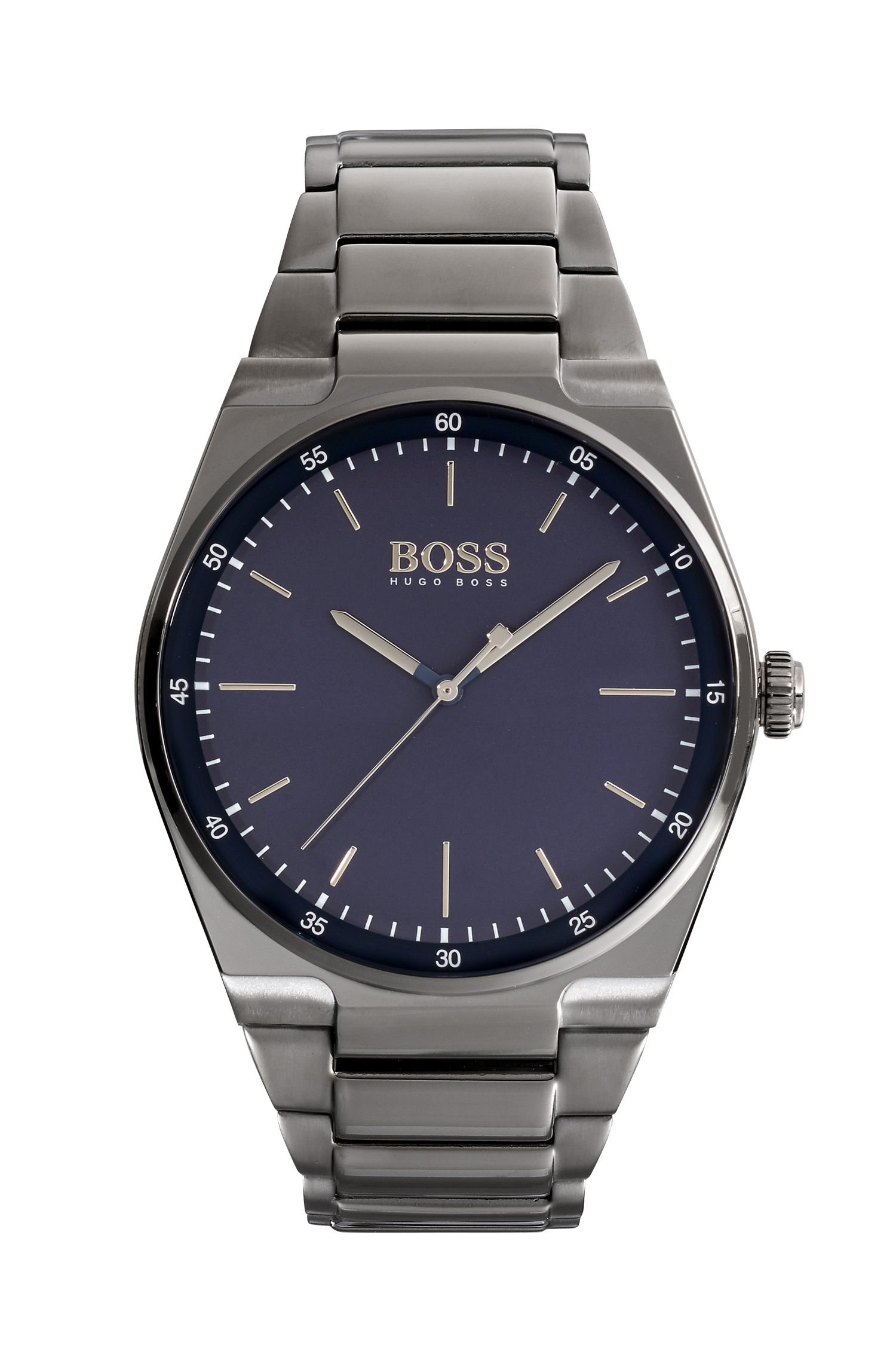 Blue Dial Watch With Grey Bracelet | Magnitude
