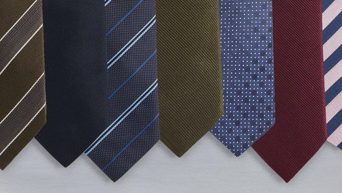 Collage mit BOSS Krawatten