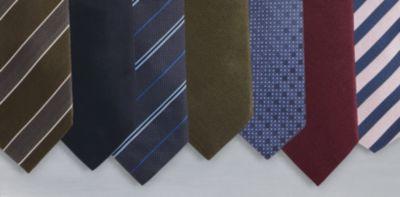 Collage van stropdassen van BOSS